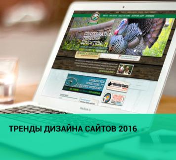 Тренды дизайна сайтов 2016