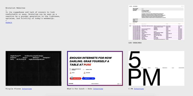 Сайты в стиле брутализм