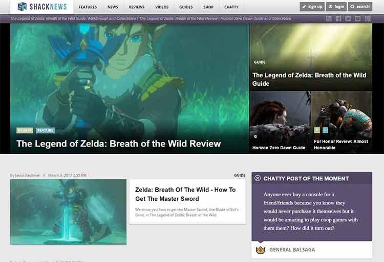 дизайн игровых блогов