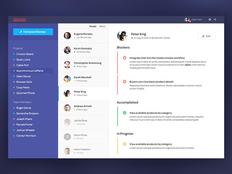 UI дизайн сайдбара