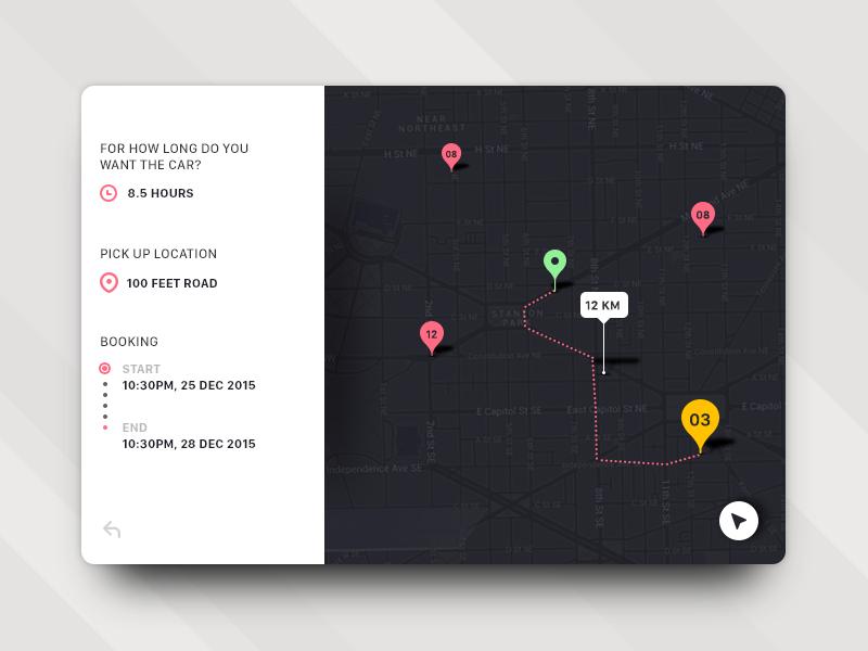 Карты в UI дизайне