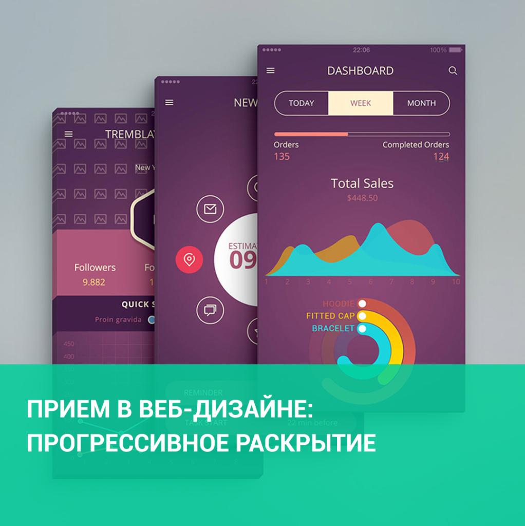 Прием в веб-дизайне: прогрессивное раскрытие