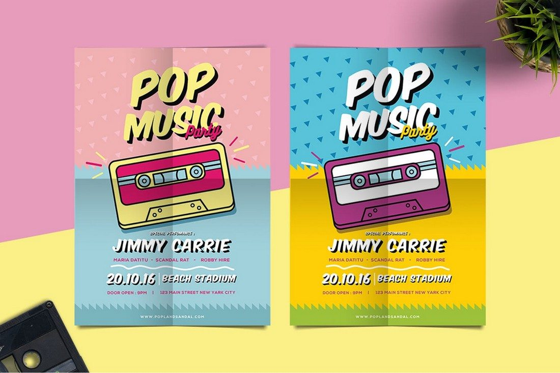Pop Music Flyer