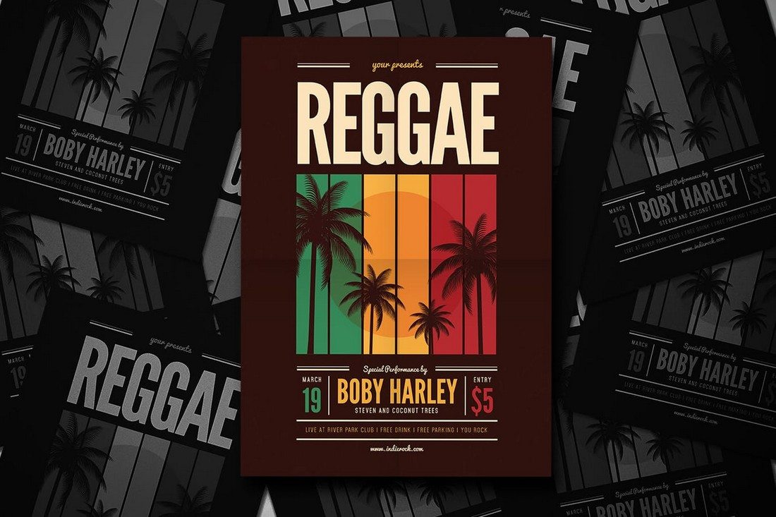 Reggae Music Party Flyer
