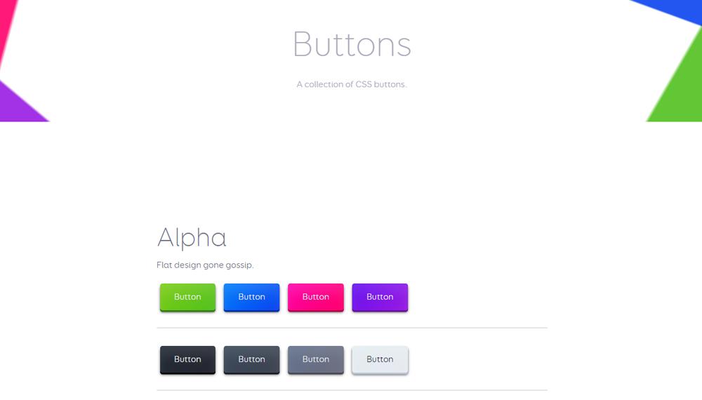 10 библиотек CSS кнопок