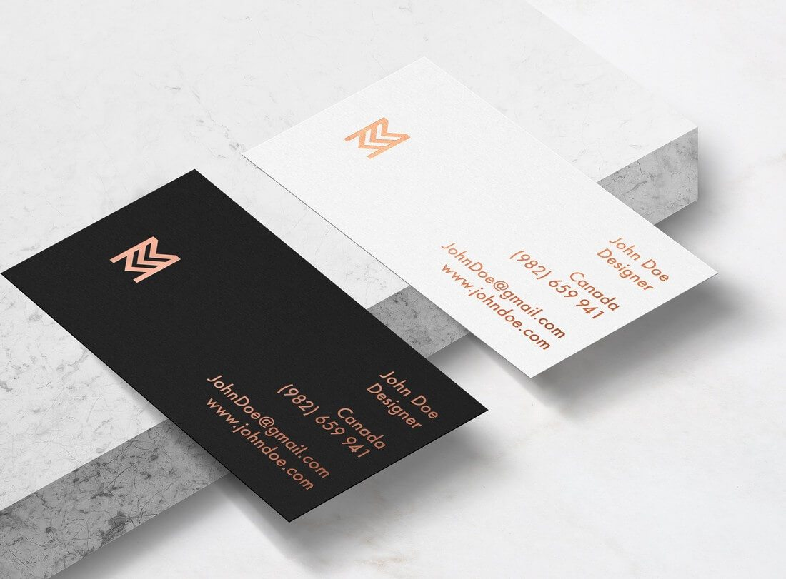 19 мокапов дизайна визитной карточки