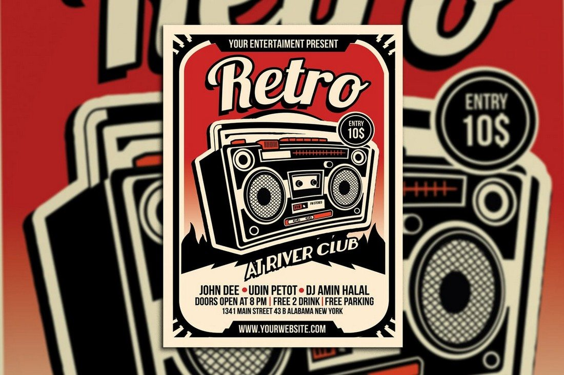 Retro Music Radio Flyer Poster