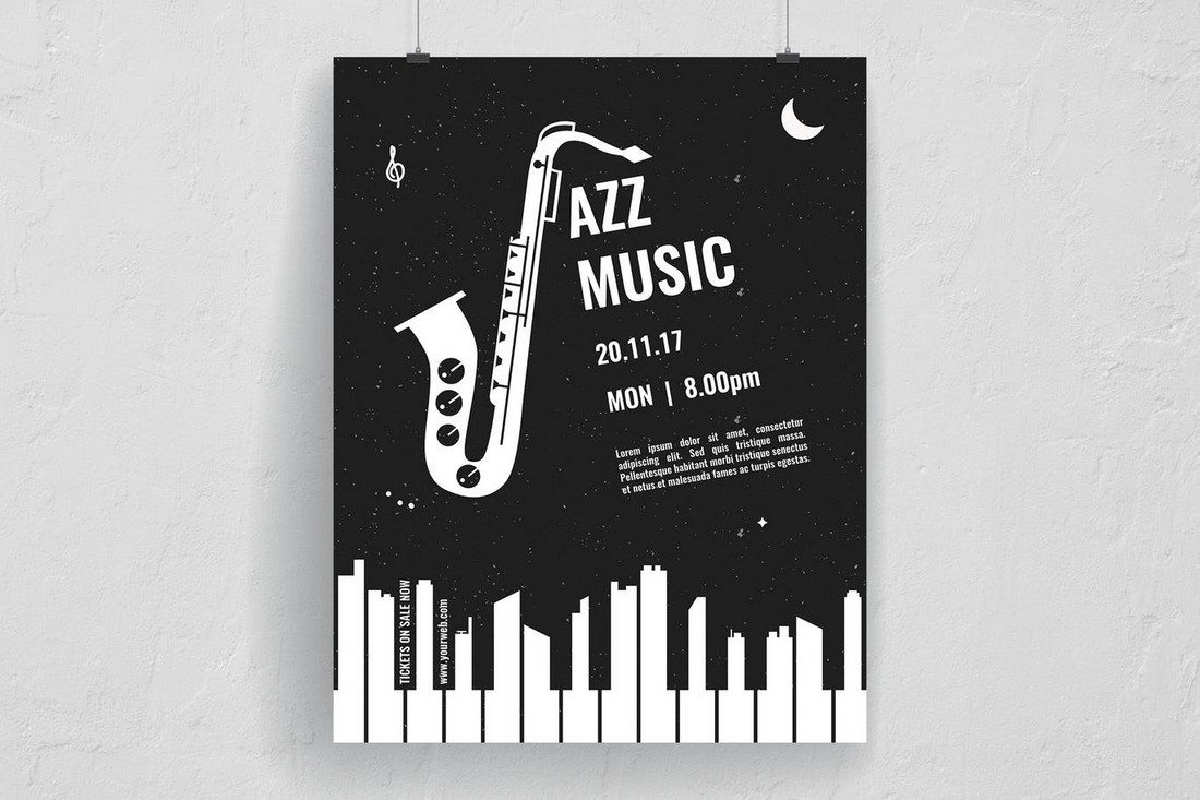 Mono Jazz Music Event Flyer