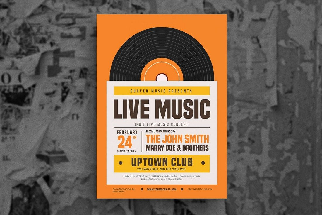 Indie Live Music Flyer
