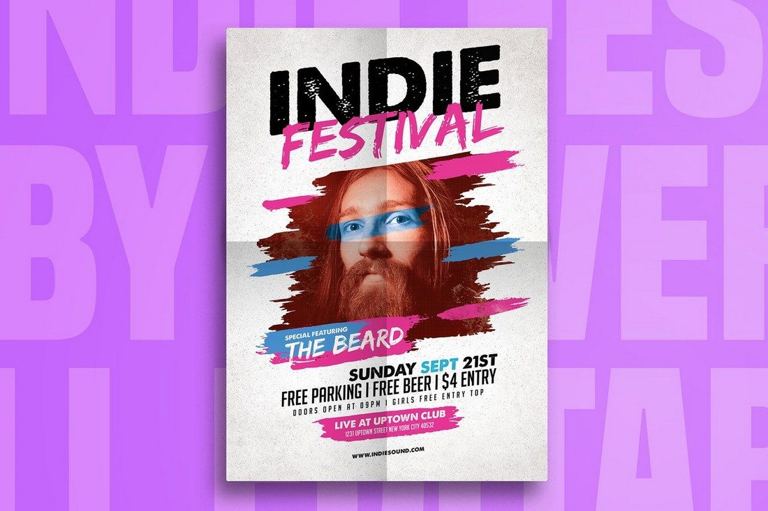 Indie Fest Music Flyer