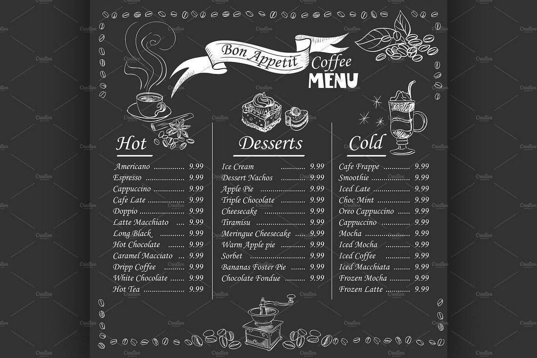 25 шаблонов меню