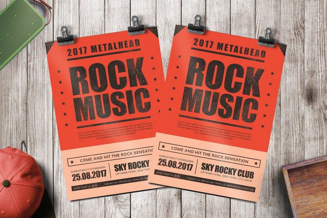 Rock Music Flyer 2