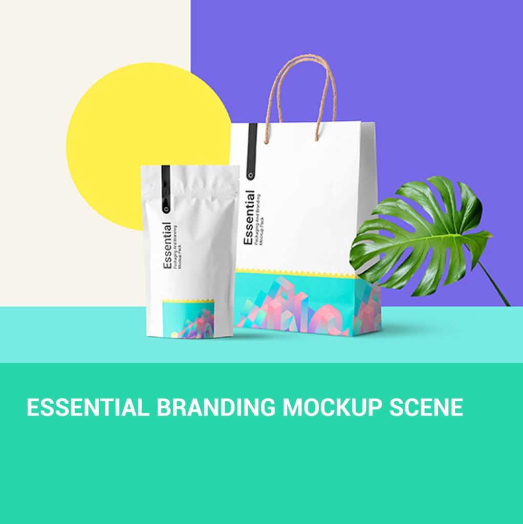 Essential Branding Mockup Scene