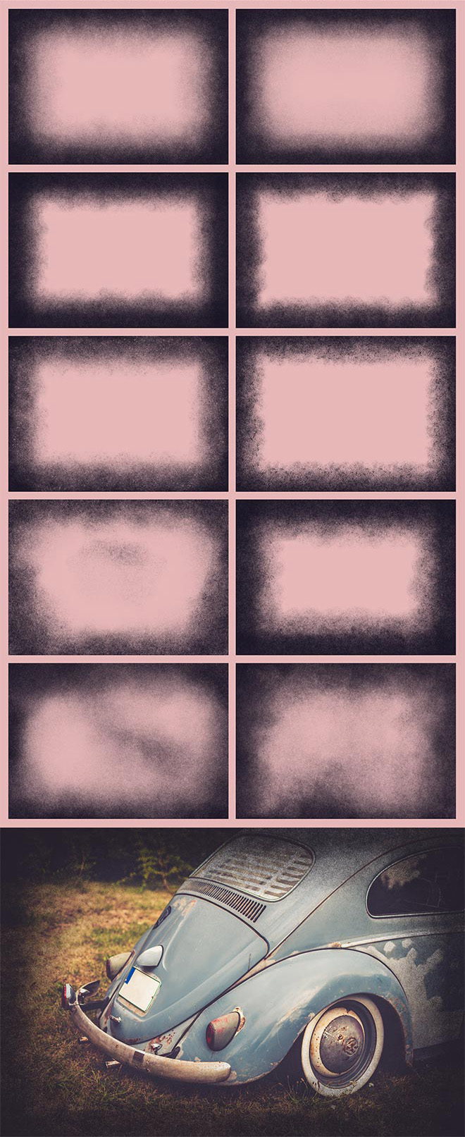 10 текстур виньетки