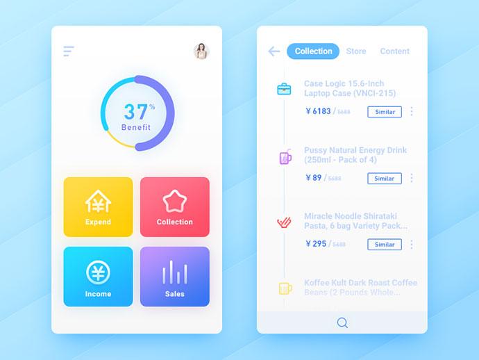 20 дизайнов мобильных UI
