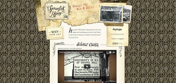 15 примеров великолепного использования текстур бумаги