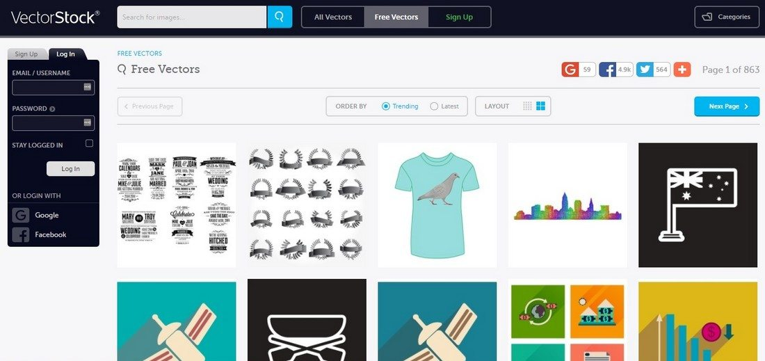 10 сайтов с бесплатными векторными изображениями