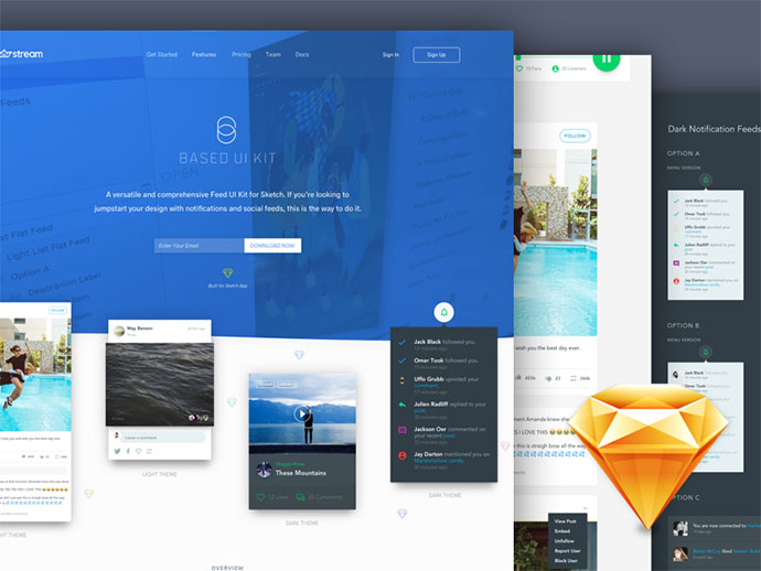 20 бесплатных ресурсов Scetch для UI/UX дизайнеров