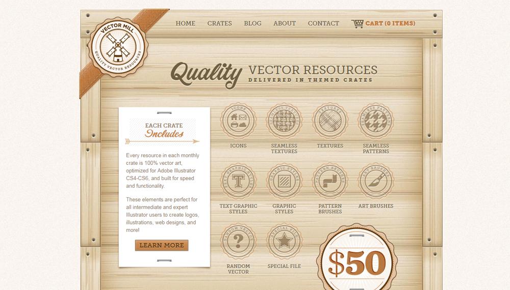 Текстура дерева в веб-дизайне: 14 примеров
