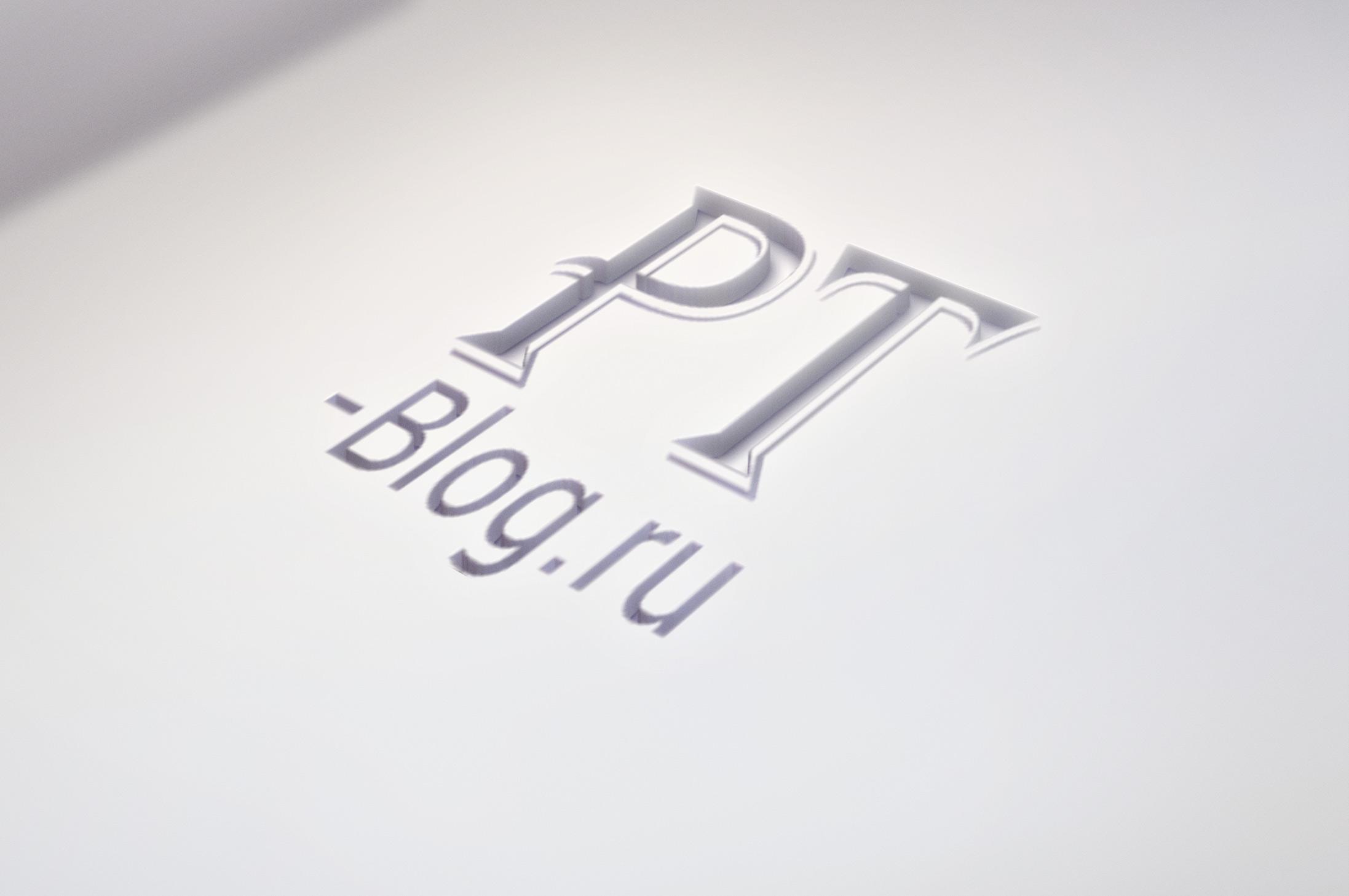 Мокап 3D логотипа