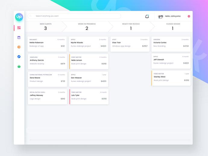 32 примера UI дизайнов приборной панели (дашборда)