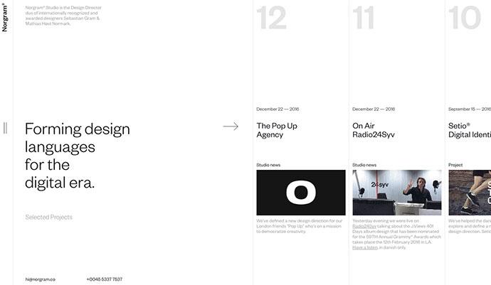 20 веб-дизайнов с использованием видимых линий сетки