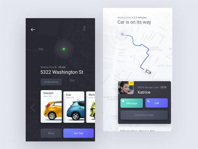 15 UI дизайнов мобильных карт