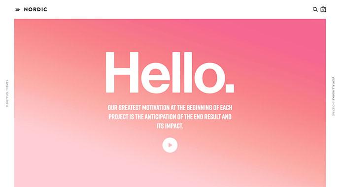 20 тем WordPress, захватывающих внимание с помощью цвета