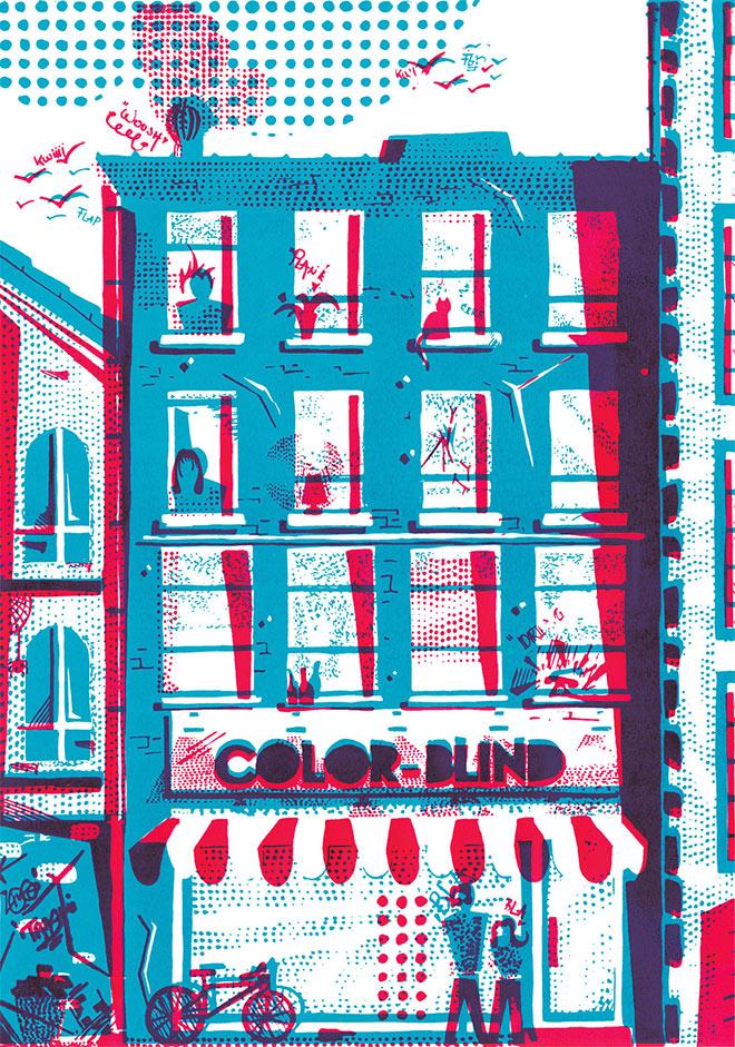 24 потрясающих дизайнов с цветными эффектами надпечатки (оверпринта)