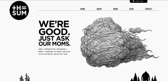 20 черно-белых тем WordPress и дизайнов сайтов