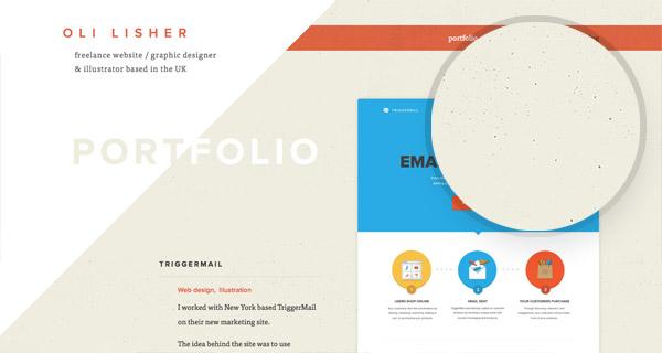 15 примеров использования зернистых текстур в веб-дизайне