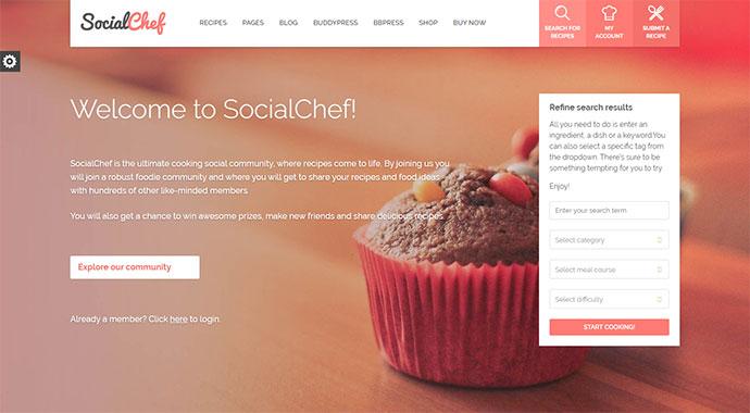 20 кулинарных тем WordPress