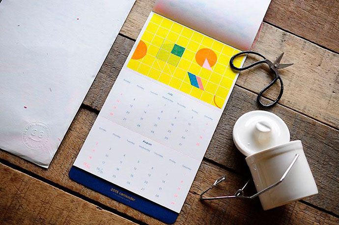 Интересные дизайны календарей 2018