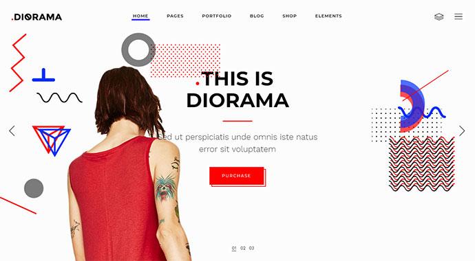 20 тем WordPress с крупным шрифтом и яркими цветами