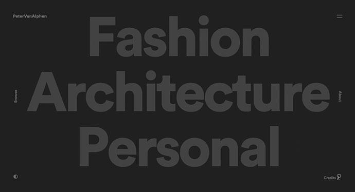 Примеры использования крупных, баннерных шрифтов в веб-дизайне