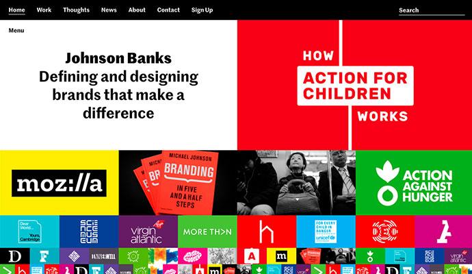 20 дизайнов сайтов в стиле Мондриан