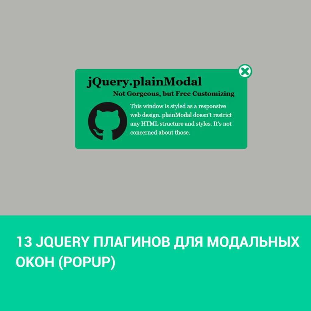 13 jQuery плагинов для модальных окон (Popup)