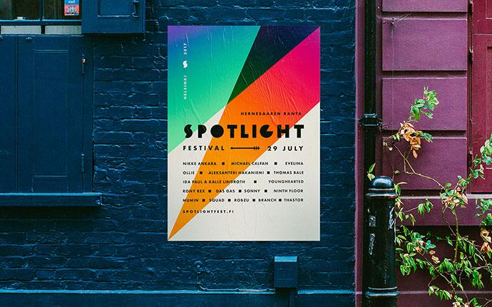 20 вдохновляющих примеров дизайна градиентных постеров