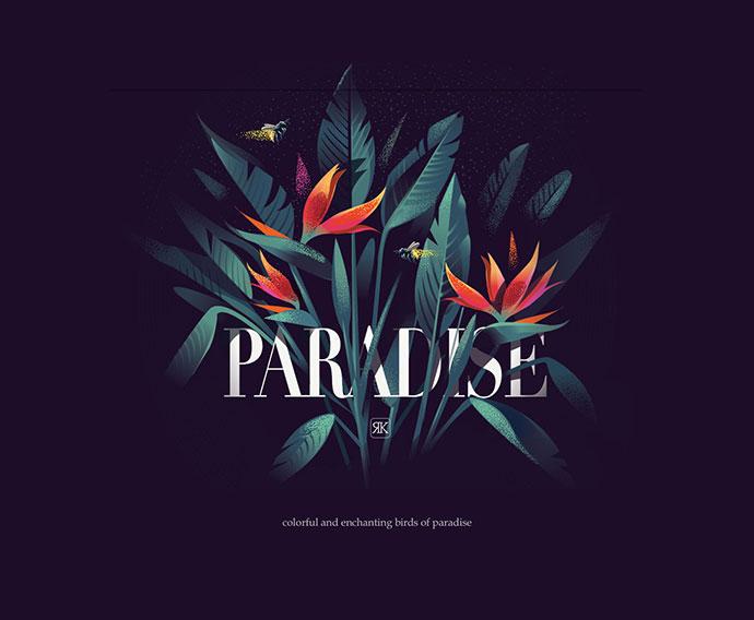 21 вдохновляющий дизайн ботанической типографики