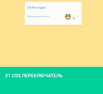 21 CSS переключатель