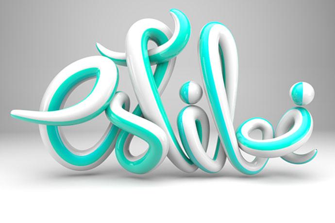 17 классных примеров дизайна 3D типографики
