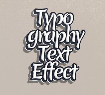 Текстовый эффект типографии (PSD)