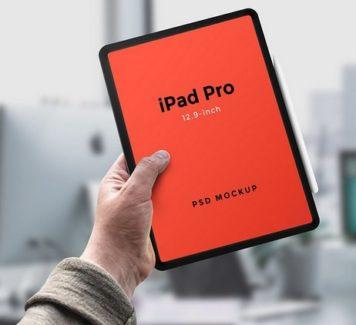 Макет iPad Pro (PSD)