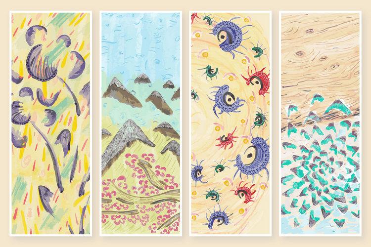 Этнические абстрактные текстуры