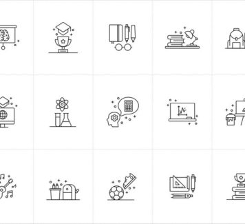 15 образовательных векторных иконок