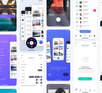 Atro: пользовательский интерфейс с 12 готовыми экранами приложений