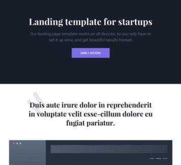 Чистый и оптимизированный landing page на HTML