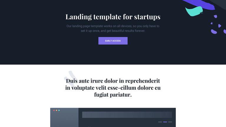 landing page на HTML