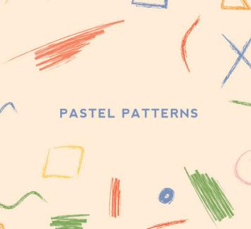Пастельные эскизы и узоры ручной работы