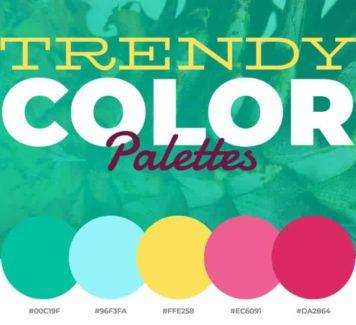 Модные цветовые палитры 2019 года